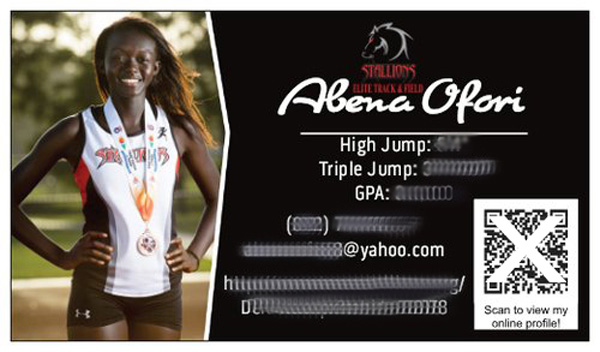 Impress Athletix Offers Custom Athlete Profiles that highlights your athletic accomplishments