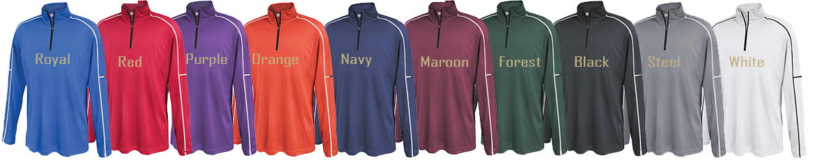 Pennant Sporswear Performance 1/4 Zip Color Choices