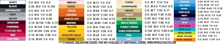 Sublimation Art Colors Impress Athletix