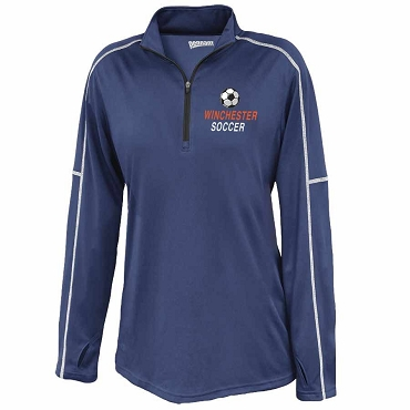 Women's Conquest 1/4 Zip Pullover with Contrast Stitching