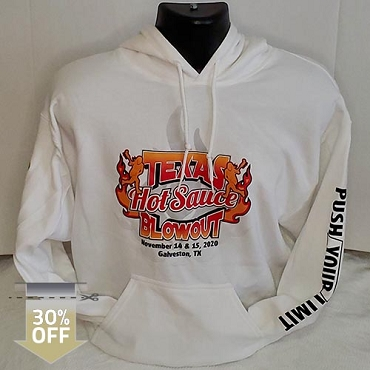 White Medium 1st Annual Texas Hot Sauce Lacrosse Blowout Tournament Hoodie