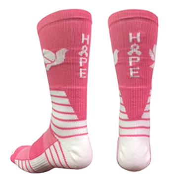 Pink Dove Crew Socks