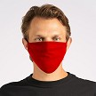 Red Customizable 100% US Cotton Flat Face Mask